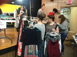 "DCHS students shopping duirng the ""Tiger Boutique"""