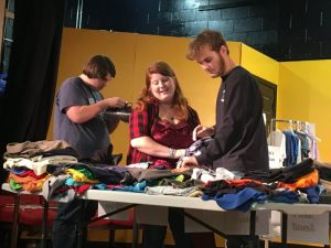 High school students shopping for clothes during the biannual Tiger Boutique
