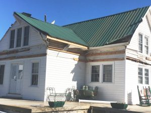 Home of Randy and Cheryl Campbell damaged by tornado