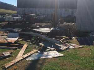 Shed destroyed on Campbell property