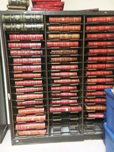 County Commission Meeting Minutes books dating back to the 1800's