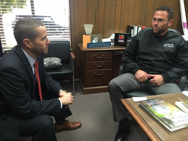 State Representative Clark Boyd Visited Smithville Mayor Josh Miller Friday