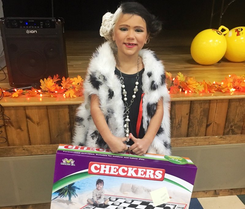 Destiny Keys wins Prize for Best Costume at the 3rd Annual Turkey Trot Walkathon hosted by the DeKalb County Coordinated School Health Program held Saturday at the county complex to benefit The Back Pack Program. Kids participated in face painting, games, and other activities.