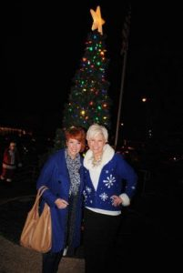 Shan and Suzanne Williams at Tree Lighting at Previous Christmas on the Square