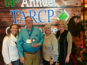 "Judge Bratten Cook, II Receives TARCP ""Making A Difference Award"" Judge Cook pictured with daughter Megan (left), wife Judy (right), and assistant Tish Summers (far right)"
