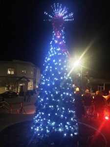 Festive outdoor Christmas lights on the Smithville Public Square