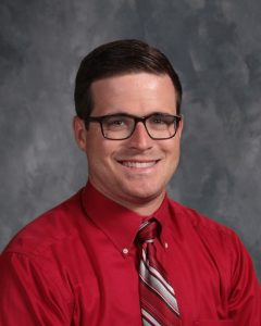 Justin Nokes, Teacher of the Year at DeKalb Middle School. He is a seventh grade history teacher