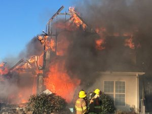 A Sunday morning fire destroyed the residence of Donald Nelson at 1224 Jimmy Malone Road at Liberty. No one injured