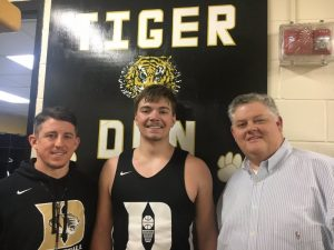 The Voice of the Tigers and Lady Tigers John Pryor with Tiger Coach John Sanders and Tiger player Tanner Poss featured on WJLE's Tiger Talk this week.