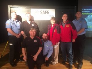 Captains Brian Williams and Michael Lawrence presented the Safe Industries Training Achievement Awards. Members achieving 75% training attendance were: Sandra Caffee, Shawn Chausse, Harley Lawrence, Tony Moore, Jeremy Neal, Steve Repasy, Cody Wagner, and Jason Young.