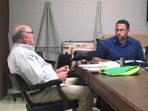 City attorney Vester Parsley and Mayor Josh Miller