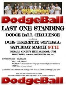 Dodge Ball Challenge Postponed until March 9