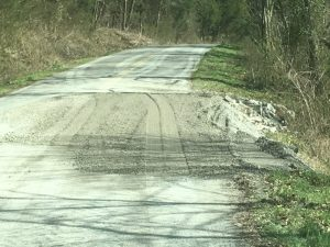 Smith Fork Road Monday after repairs made by DeKalb County Highway Department