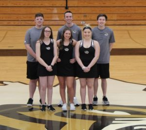 Seniors on the DCHS Tennis Teams: Girls-Ashlee Thompson, Faith Judkins, and Shelby Clayborn. Boys - Justin Washer, Dosson Medlin, and Lance Davis
