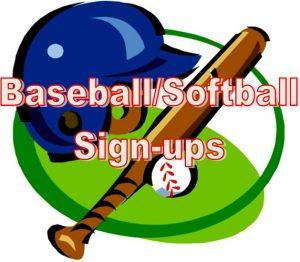 Youth League Baseball & Softball Sign-ups Saturday