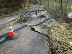 Smith Fork Road in February before repairs were made by DeKalb County Highway Department