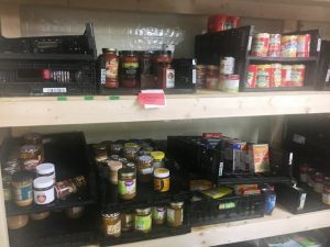Distribution Day finds pantry shelves stocked with plenty of food from Second Harvest Food Bank