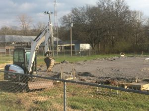 A new 18,200 square foot agriculture center building was under construction in March at the DeKalb County Fairgrounds behind the commercial exhibit building.