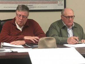 Alexandria May be Forced to Raise Water and Sewer Rates-City Under State Order to Submit Plan of Action. Pictured: Alexandria Mayor Bennett Armstrong and City Attorney Vester Parsley