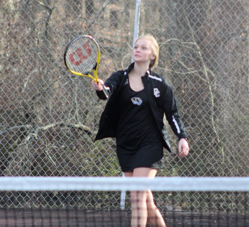 The DCHS Tennis teams went to Livingston Academy Tuesday, March 19 and brought home a pair of wins over the Wildcats. Winners for the girls singles were Hannah McBride (9-7), Shelby Clayborn (8-3), and Katie Colwell (8-1) while Faith Judkins, Ashlee Thompson and Leah Davis lost their matches Pictured Katie Colwell (READ MORE IN LOCAL SPORTS)