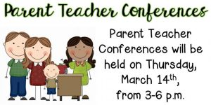 Parent-Teacher Conferences are set for Thursday, March 14 from 3-6 p.m. at DeKalb West School, DeKalb Middle School, Northside Elementary School, and Smithville Elementary School.