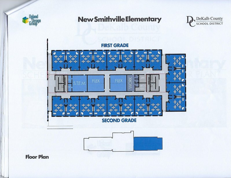 Floor plan for first and second grade wing of new elementary school