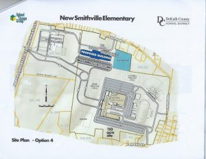 Site Plan Option #4 would expand the Northside Elementary campus with the acquisition of 110 acres to provide room for construction of the new pre-K to 2nd grade school and for future construction of a new high school (modeled after Stone Memorial High School in Crossville).