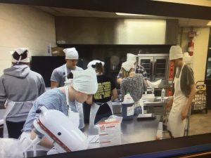 DCHS CTE Culinary Arts Course (Students preparing for Class to make Cakes)