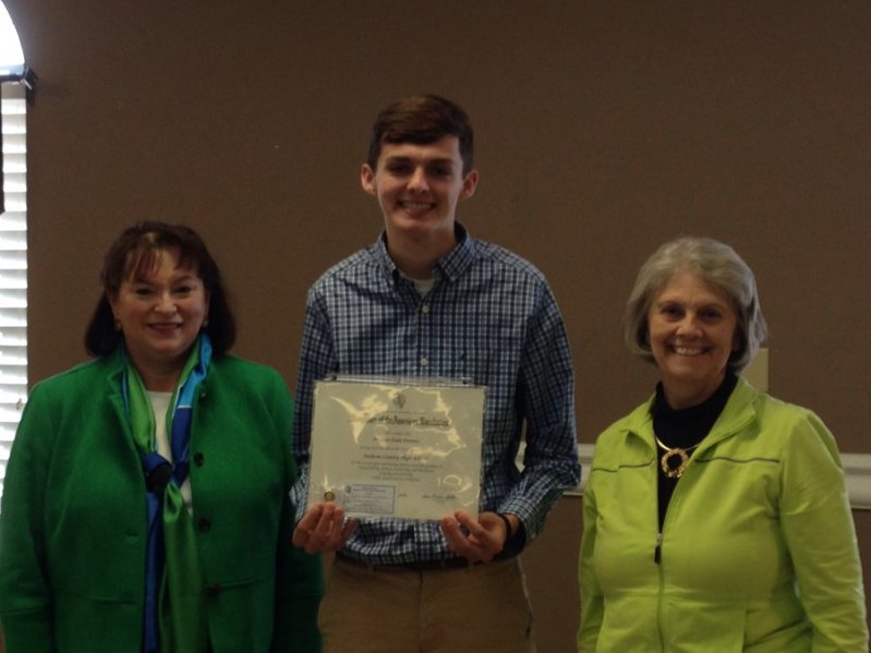 Jonathan Birmingham. A DCHS student, has been awarded the 2019 Caney Fork Chapter Daughters of the American Revolution Good Citizen honor. He is the son of Eric and Kelly Birmingham of Smithville. The award is based on four criteria: Service to the Community, Dependability, Leadership and Patriotism. Birmingham is an Eagle Scout and his final project was building a playground for the children at the Smithville Church of God. After graduation he plans to attend Middle Tennessee State University in Murfreesboro to pursue a major in aviation. He has been a member of the Science Club, a math tutor and was voted Most Optimistic by his fellow classmates as a Senior Superlative.