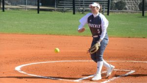 Kayley Caplinger won three times in the circle to earn MSC Pitcher of the Week accolades. (Credit Bob Tamboli)