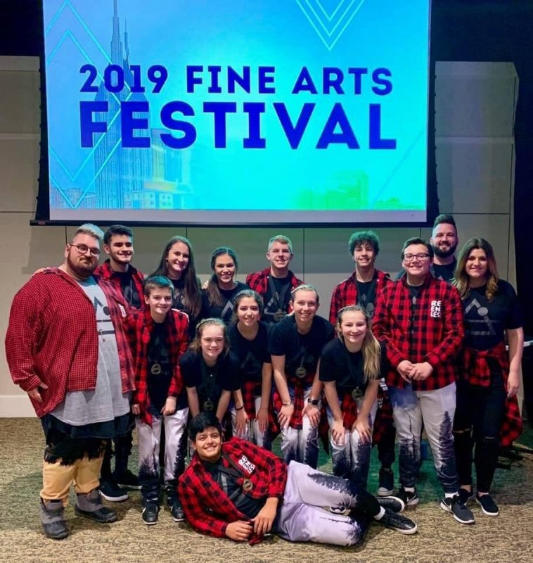 Relentless Student Ministries Headed to Nationals in Florida: Pictured: Front: Omar Aldino; Middle: Josh Issac , Adyen Jones, Ellie Dillard, Dasia Gurley, Brooklyn Wilson, Haidyn Hale, Landon Crips; Back Row: Gabriel Angeles, Kenzie France, Kennedy Agee, Josh Moon, Desmond Nokes, Pastor Iain & Kassy Swisher.