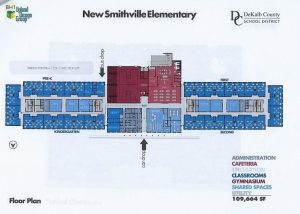 The Board of Education and Director of Schools Thursday night got their first look at the schematic design, site plan, and floor plan for a new Smithville Elementary School. to be located on campus of Northside Elementary.