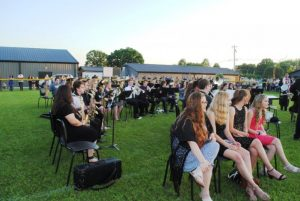 """The DCHS Band performs """"The Greatest Showman"""" and """"Czardas-Monti"""" featuring Axel Rico at Graduation Friday Night"""