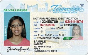 """Non-compliant driver licenses and identification credentials issued beginning this Summer display the phrase, """"NOT FOR FEDERAL IDENTIFICATION"""" on the front of the credential."""