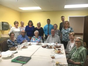 Members of the DeKalb Retired Teachers Association held their monthly meeting Thursday at NHC of Smithville. The guest speakers were County Clerk James L. (Jimmy) Poss and Father Ben Randall