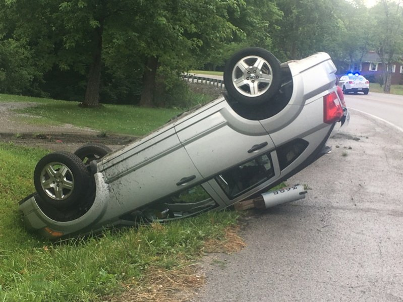Rollover Crash on Highway 56 Wednesday afternoon but there were no injuries