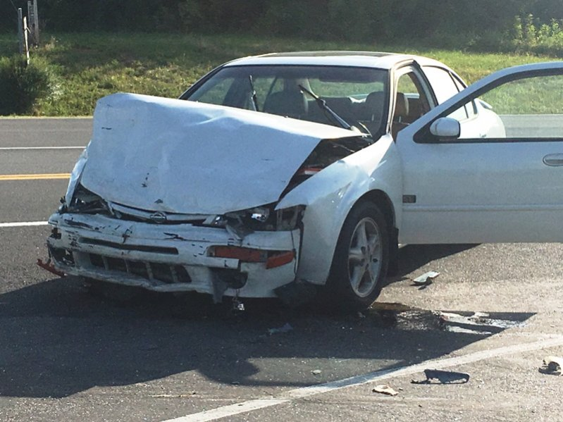Car involved in crash Sunday afternoon at intersection of Highways 70 & 83. No serious injuries