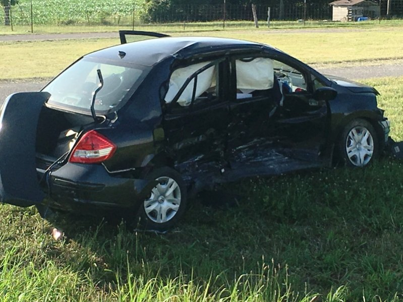 Car involved in wreck Sunday at the intersection of Highways 70 & 83 in Smithville. No serious injuries