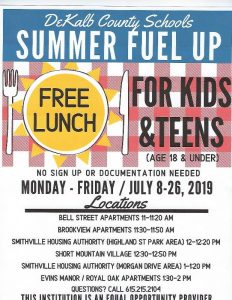 DeKalb School Nutrition Department to Offer Mobile Free Lunches in July