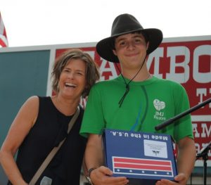 Joshua Ginter of Oakland, Tennessee received a state flag from State Representative Terri Lynn Weaver