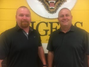 DCHS Principal Randy Jennings (right) names Tad Webb the new DCHS Tiger Baseball Coach