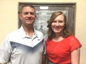 Director of Schools Patrick Cripps welcomes Lacey Foutch as new Principal at DeKalb Middle School