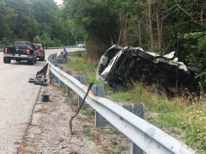 A 12 year old boy was airlifted from near the scene of a two auto crash Thursday afternoon on Highway 56 (Cookeville Highway) near the old Cherry Hill Community Center building. The child was flown by a helicopter ambulance to Vanderbilt Hospital.