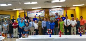 DeKalb County Democratic Party: Executive Committee Members, and Elected Officials, speakers: House Democratic Leader Karen Camper, and U.S. Senate candidate James Mackler.