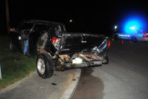 Pickup truck involved in Friday night crash at North Congress Boulevard and East Main Street