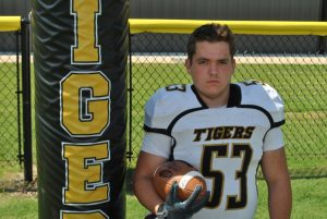 DCHS Football player Dylan Denson appears on WJLE's Tiger Talk program August 30