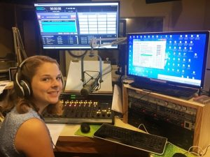 Robin Pafford will soon be off to college at MTSU but over the summer she has spent time Job shadowing at WJLE.