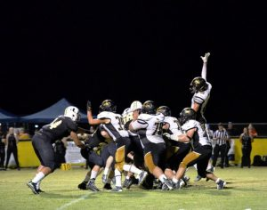 The DeKalb County High School Tigers suffered a stinging blow at Baxter Friday night losing to the Upperman Bees 35-0. (Tena Edwards Photo)