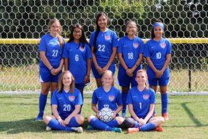 DMS Lady Saints Soccer Program 8th graders