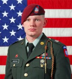 The late U.S. Army PFC Billy Anderson